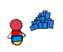 this image shows the character from before who taped a 1 to their shirt to cheat the system. all it takes is an understanding of the rules and a desire to subvert those rules to make sure that the outcome is in your favor. a system that caters predominantly to stopping cheaters will not stop the cheaters, but it will harm the people who aren't trying to cheat but who were not considered in the making of the rules.